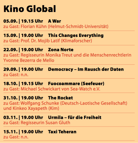 Kino Global 2016 Programm