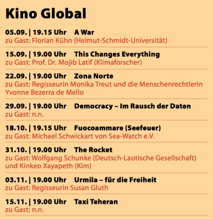 Kino Global 2016 Programm